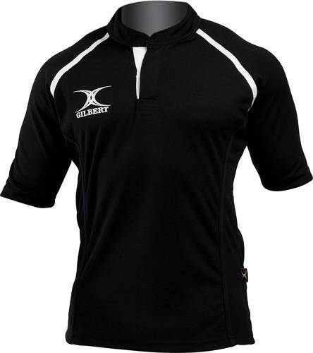 Gilbert rugbyshirt zwart 2XS