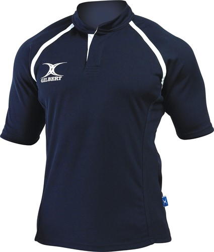rugbyshirt Xact Navy Blauw maat S