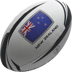 Gilbert rugbybal New Zealand supporter  Zwart - maat 5