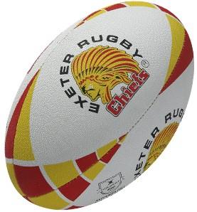 Gilbert rugbybal Exeter Geel - maat 5