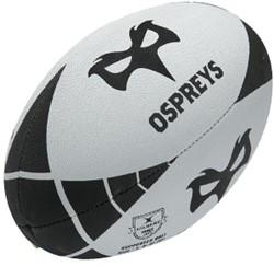 Gilbert Rugbybal Ospreys  Zwart - maat 5