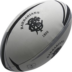 Gilbert rugbybal Barbarians mini (15 cm)  Zwart - Mini