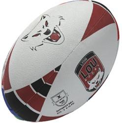 Gilbert Rugbybal Lyon  Rood - maat 5