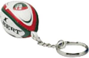 Gilbert rugbybal sleutelhanger Leicester