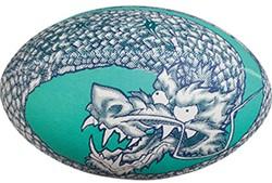 Gilbert rugbybal Dragon  Blauw - maat 5