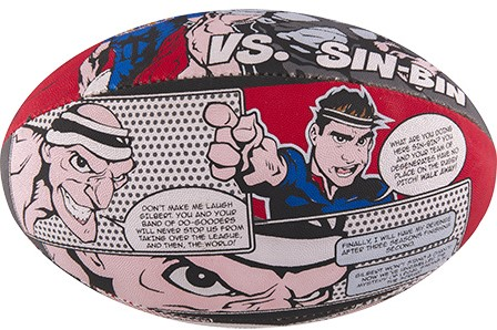 Gilbert rugbybal Randoms Super Hero maat 5