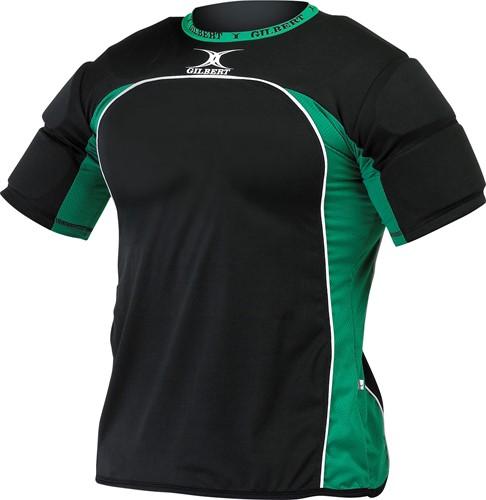 Gilbert Atomic schouderbescherming / shoulderpads zwart/groen S