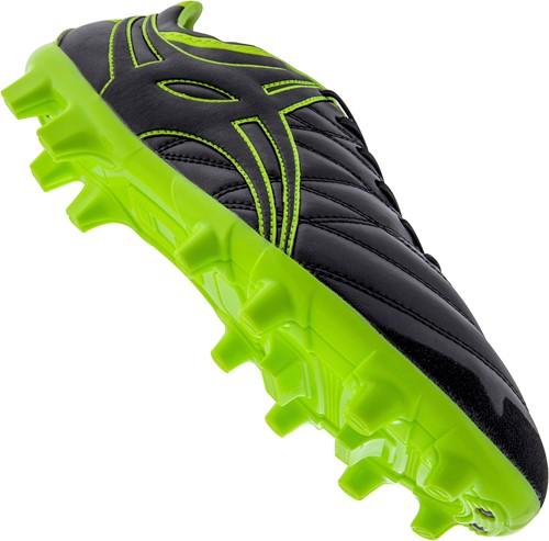 Gilbert rugbyschoenen S/St X9 Lo Blades zwart/neon