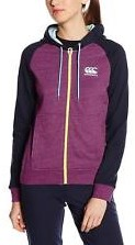 CANTERBURY CCC PRINCESS SEAMZIP THROUGH HOODY - 16 - XL WARM VIOLET