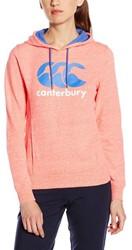 CANTERBURY PRINCESS SEAM CCC LOGO HOODY - 8 - FLURO CORAL