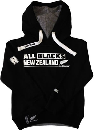 All Blacks Hoodie AB NEW ZEALAND  Zwart - 116