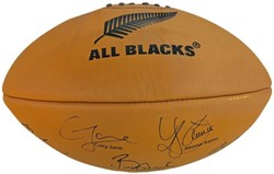 Gilbert rugbybal Leather Allblacks Sig - maat 5
