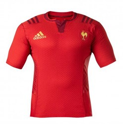 Adidas Frankrijk Short Sleeved Away Rugby Shirt  Rood - 2XL