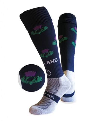 WackySox Schotland sokken  Blauw / Wit - 46-49