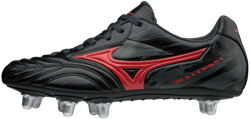 Mizuno rugbyschoen Waitangi CL 8 noppen Zwart/Rood