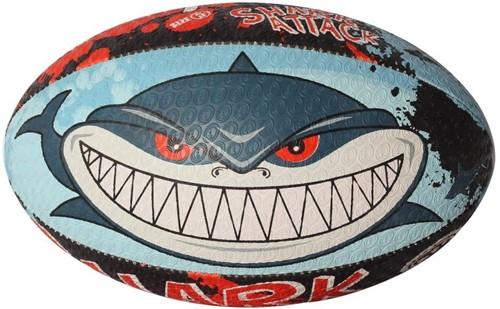 Optimum rugbybal Shark Attack - maat MINI 15 cm