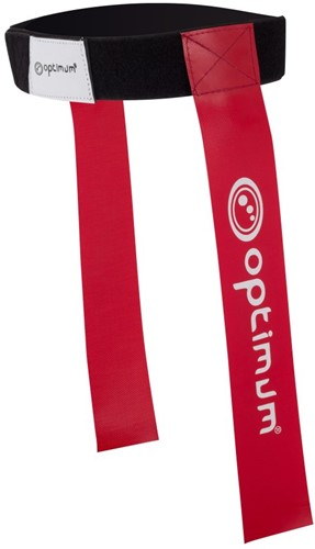 Optimum Tackle Belt & Flags - Rood set van 7 stuks