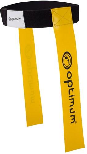 Optimum Tackle Belt & Flags - Geel set van 7 stuks
