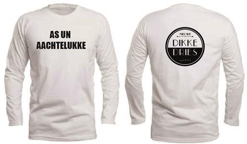 DIKKE DRIES Longsleeve wit AS UN ACHTELUKKE maat M