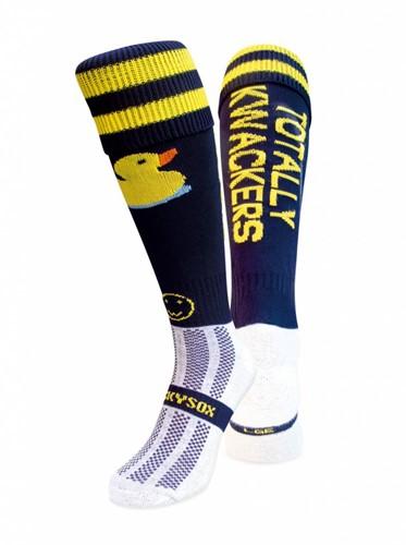 WackySox Bad eend sokken  Zwart / Geel - 35-40