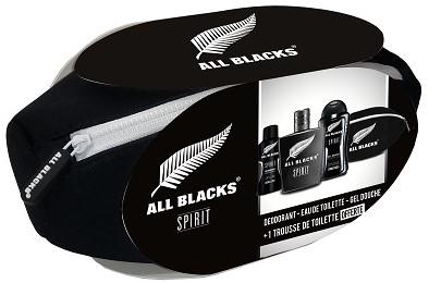 All Blacks Toilettas met inhoud,  Zwart - Spirit