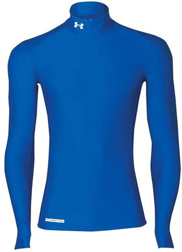 Under Armour Thermoshirt keeps you warm  Royal - S