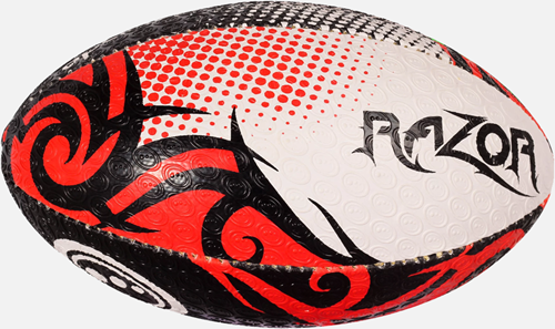 Razor rugbybal zwart/rood/wit mini 15 cm