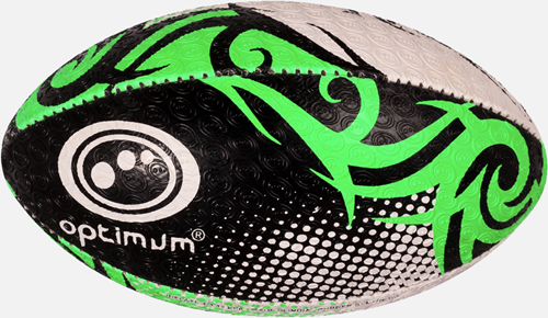 Razor rugbybal zwart/groen/wit maat 3