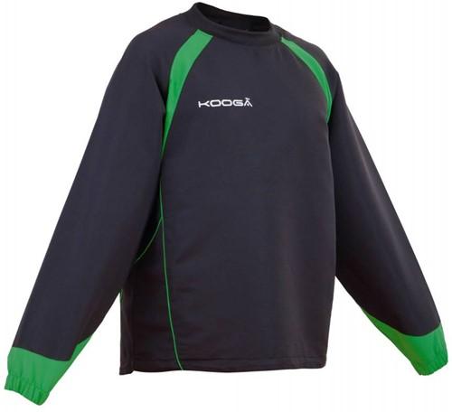 Kooga Rugby trainingstop Vortex II zwart/groen  Zwart/Groen - XL