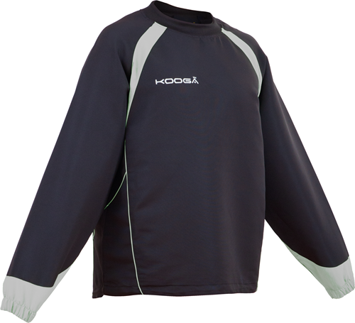 Kooga rugby trainingstop Vortex II Top  zwart/grijs - XL
