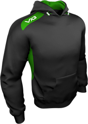Team Tech hoodie Black/Emerald
