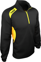 Team Tech Half Zip Train Jacket Pique Black/Amber