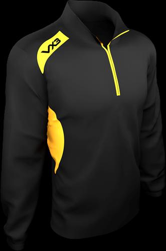 VX3 Team Tech Half Zip Train Jacket Pique Black/Amber