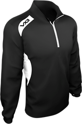 Team Tech Half Zip Train Jacket B/W