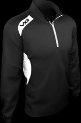 Team Tech Half Zip Train Jacket B/W L
