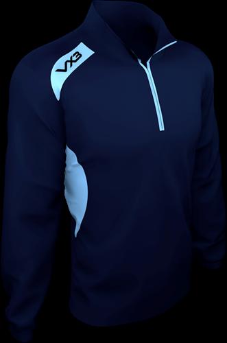 VX3 Team Tech Half Zip Train Jacket Pique Navy/Sky