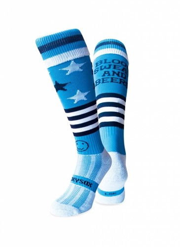 WackySox Blood Sweat & Beers  blauw - 35-40