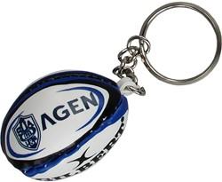 Gilbert rugbybal sleutelhanger Agen