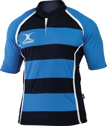 Shirt Xact hooped sky/navy maat 2XS